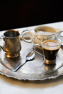 Espresso on tray - p9245395f by Image Source