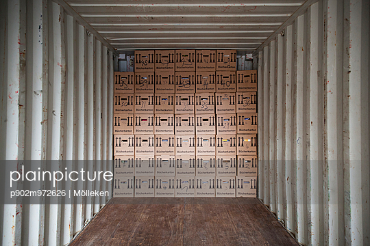 Umzugskartons im Container - p902m972626 von Mölleken