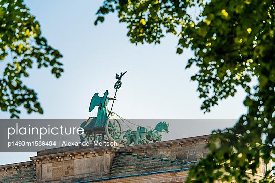 Brandenburg Gate with Quadriga - p1493m1589484 by Alexander Mertsch