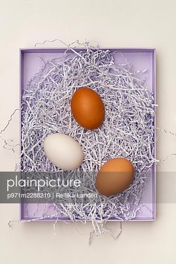 Eggs in a box - p971m2288210 by Reilika Landen