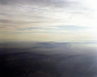 Blick aus dem Flugzeug auf die Pyrenäen - p1409m1467125 von margaret dearing