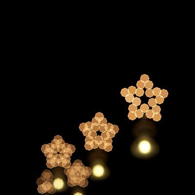 Christmas stars at night - p6060666 by Iris Friedrich