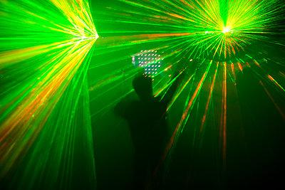 Laser show - p1057m1010282 by Stephen Shepherd