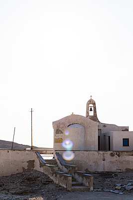 Church at the seaside - p445m1159659 by Marie Docher
