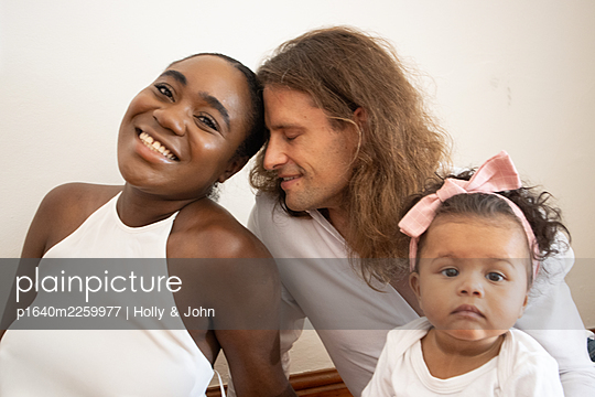 Multi ethnic family with toddler girl - p1640m2259977 by Holly & John