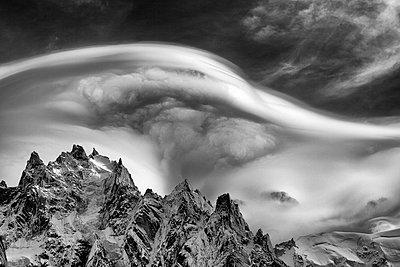 Wolken in der Haute Savoie - p1553m2125689 von matthieu grospiron