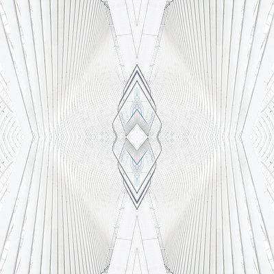 Abstract kaleidoscope pattern Liège-Guillemins station in Liège - p401m2209317 by Frank Baquet