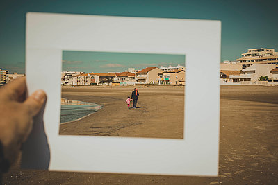 On the beach - p445m1528743 by Marie Docher