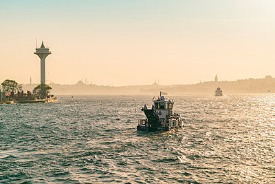 Ferries on Marmora Sea, Istanbul, Turkey - p343m2032327 by Tamboly Photodesign