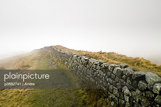 Hadrians wall in fog - p3882741 by Andre