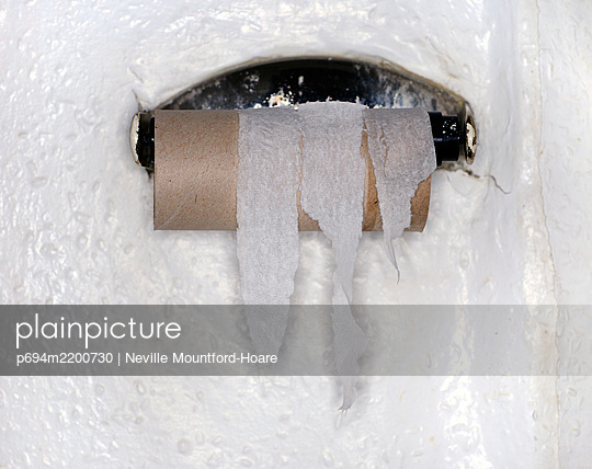 Finished Roll of Toilet Paper - p694m2200730 by Neville Mountford-Hoare