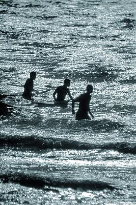 Surfers - p1028m1057105 by Jean Marmeisse