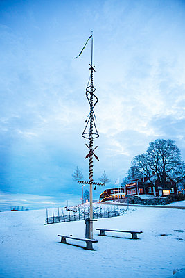 Maypole at winter - p312m1556867 by Lena Granefelt