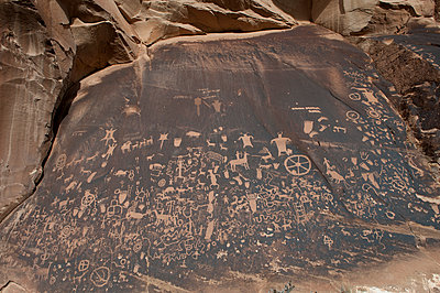 Petroglyphs at Newspaper Rock State Historic Monument, Utah, USA - p623m1086488f by Jerome Gorin