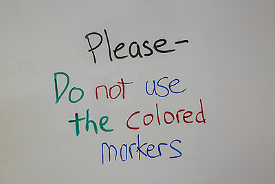 Information, Please, Do not use the colored markers  - p397m2015247 by Peter Glass