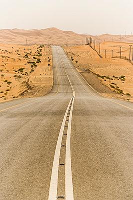 Road in desert landscape - p280m1137332 by victor s. brigola