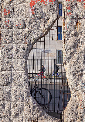 Hole at Berlin Wall - p580m1016259 by Eva Z. Genthe
