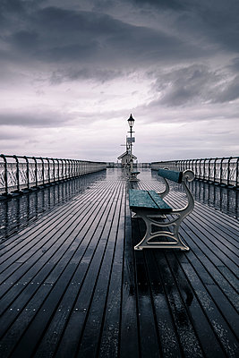 Penarth Pier on a stormy day - p1228m1058070 by Benjamin Harte
