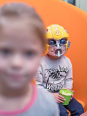 Boy wearing mask - p390m2109349 by Frank Herfort