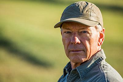 Serious Caucasian farmer - p555m1303710 by Steve Smith