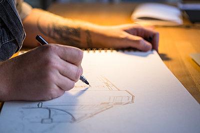 Urban Sketcher - Zeichner - p1222m1104795 von Jérome Gerull