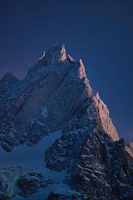 alpine sunset - p1553m2142512 by matthieu grospiron