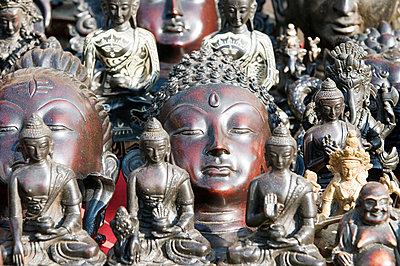 Buddha statues - p9246544f by Image Source