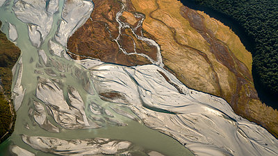Riverbed aerial view - p1154m1425719 by Tom Hogan