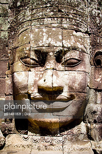 Sculpture at Bayon Temple, Cambodia
