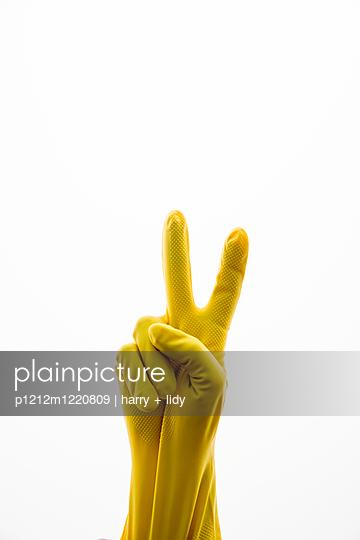 Gelber Handschuh Variantion IX - p1212m1220809 von harry + lidy