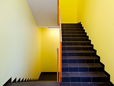 Empty Hospital Stairwell - p1100m2090774 by Mint Images