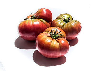 Ripening heirloom tomatoes - p555m1303821 by Manny Rodriguez