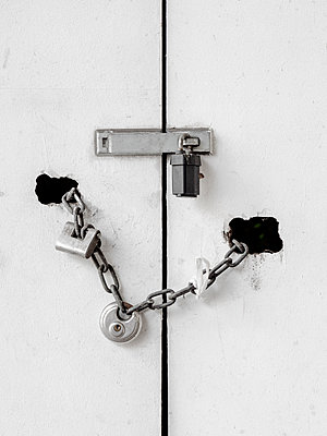 Padlocked Door - p1280m1462407 by Dave Wall