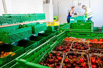 Obst in Kisten - p1611m2184061 von Bernd Lucka