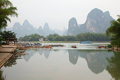 China, guangxi province, xingping and karst landscape - p9244878f by Image Source