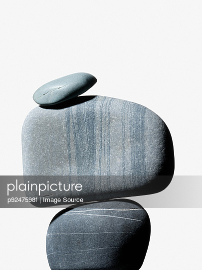 Grey pebbles - p9247598f by Image Source