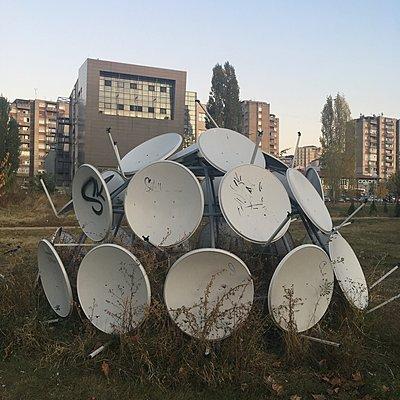 Satellite dishes - p1401m2134588 by Jens Goldbeck