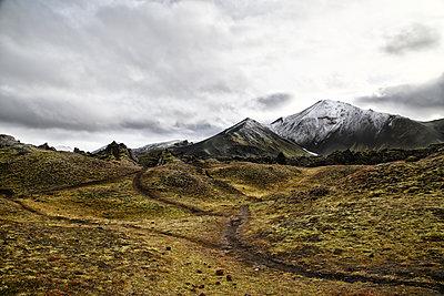 Clouds over mountain landscape, Iceland - p1643m2229392 by janice mersiovsky