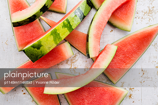 Leftovers of a watermelon - p1149m1146893 by Yvonne Röder
