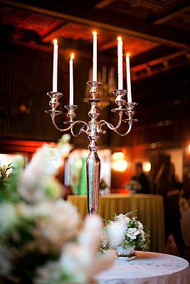 Silver candleholder - p8450020 by Robert DiScalfani