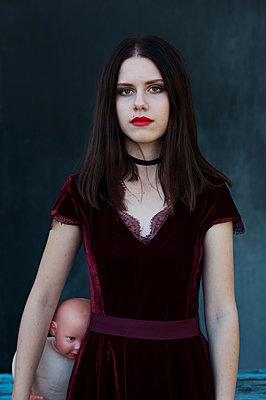 Girl with pale skin - p1412m2133499 by Svetlana Shemeleva