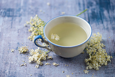 Cup of Elder Flower Tea - p300m2023540 by Mandy Reschke