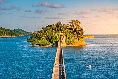 Samana, Santa Barbara de Samana, Samana Peninsula, Dominican Republic. Bridge to Nowhere. - p651m2006844 by Marco Bottigelli