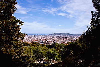 Framed View of Barcelona - p991m1208111 by Metin Fejzula