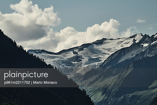 Clouds over mountain landscape, Pinzgau - p961m2211702 by Mario Monaco
