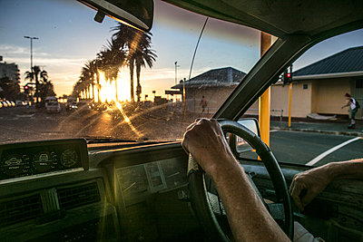 Driving Ay Sunset - p1082m2071342 by Daniel Allan