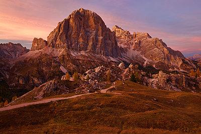 Passo Falzarego at sunset - p1399m2148439 by Daniel Hischer