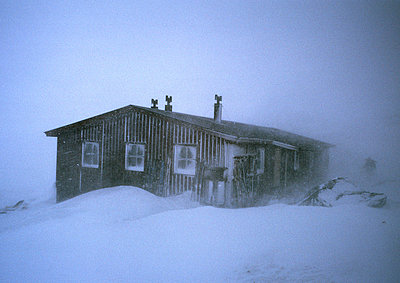 House in a snow storm, Lappland - p3484259 by Björn Wiklander