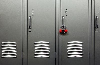 Locker In a Locker Room - p1100m2090954 by Mint Images