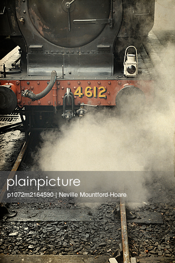 Front of steam locomotive - p1072m2164590 by Neville Mountford-Hoare